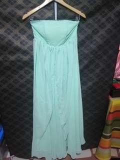 Mint green long dress