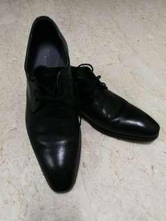 Bruno Cascinelli Men's black genuine leather formal shoes