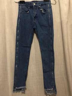 Bershka Side Zipper Jeans