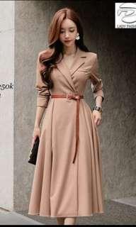 Elegant office long dress