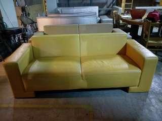 大樹二手美市黃色3人沙發