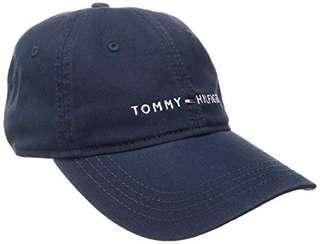 Tommy Hilfiger Baseball Cap Leather Strap in Navy