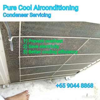 [Cheap Cheap Service] Condenser cleaning!!  TO PREVENT OVERHEAT AND SPOIL THE AIRCON!!
