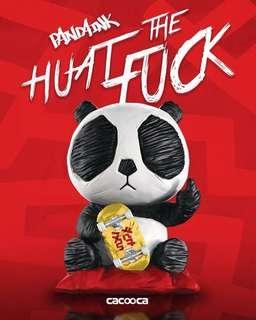 Cacooca + Basement Jaxx - Huat The Fuck ! Ink Panda with Golden Skateboard
