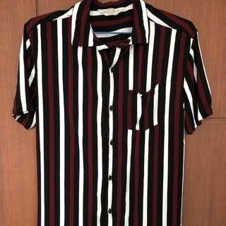 Kemeja Garis Strip Cotton On Original