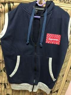 Sleeveless Outerwear w Hoodie (Material: Cotton)
