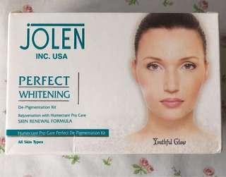 Jolen Perfect Whitening Skin Care De-Pigmentation Facial Kit