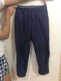 Uniqlo soft denim trousers