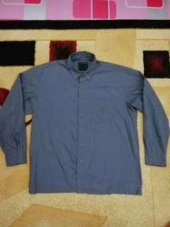 Rare neighborhood apparel dark grey shirt chambray  number
