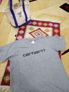 Rare carhartt big logo spell out tshirt