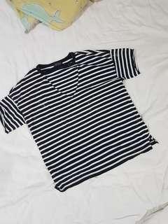 Topshop oversized Stripes Top