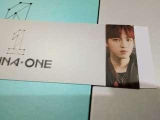 WANNA ONE 1¹¹=1 (POWER OF DESTINY) KIM JAEHWAN ALBUM SLEEVE (WTT)