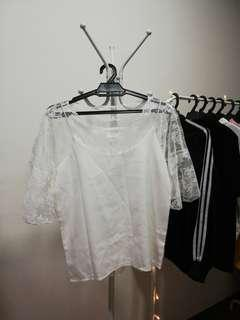 Two Piece White Top