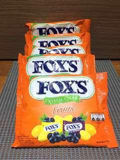 Fox's crystal clear fruits 125g