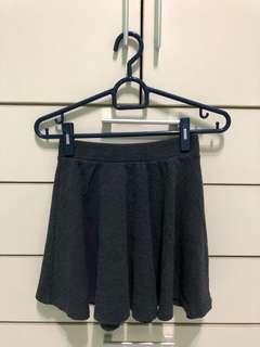 Bershka grey flare skirt