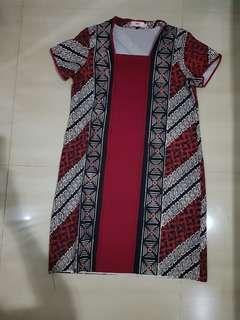Dress batik nona rara ukuran m