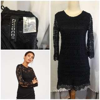 H&M black lace dress