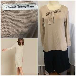 Natural beauty basic knit dress