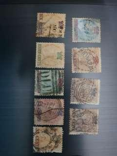 Straits settlements 1867 stamps full set