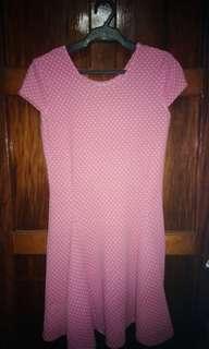 Pink polka dots dress