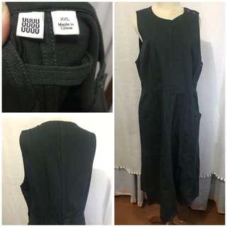 Uniqlo green denim dress