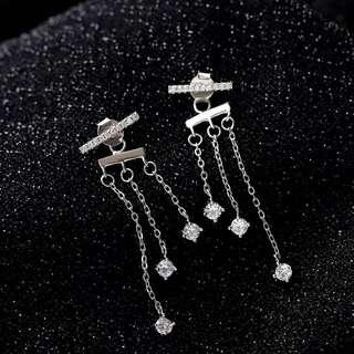 (PO) K-Drama: What is Wrong with Secretary Kim Crystal Drop T-Bar Earrings