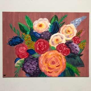 Flowers Acrylic Painting on Canvas