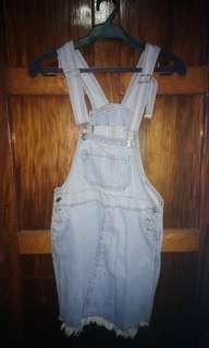 Denim jumper dress