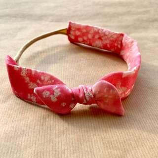 Pink Lei // Thick Knotted Headband   Handmade