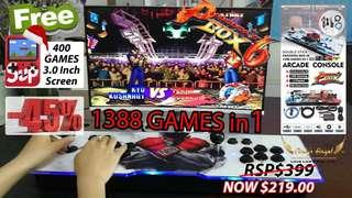 Pandora 6S 1388 in 1 game console