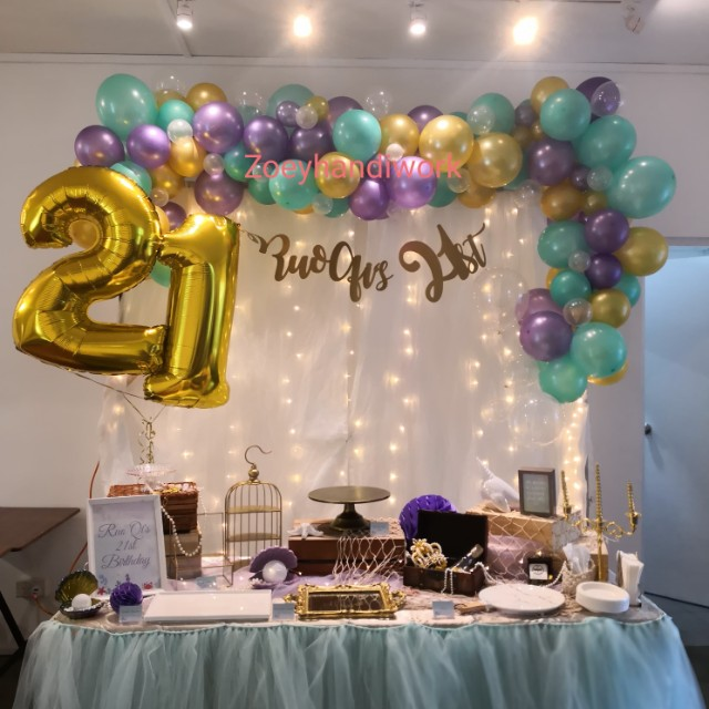 21st Birthday Decorations In Under The Sea Theme Design Craft
