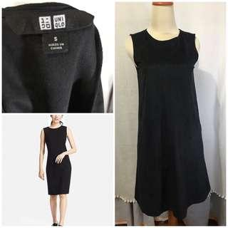 Uniqlo black velvet dress