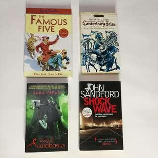 Crazy Cheap Preloved Books (4 for RM21)
