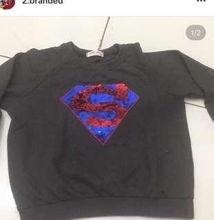 Sweater Superman import korea untuk anak 4-5 th