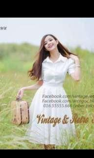 Vintage simple white dress
