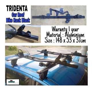 TRIDENTA Car Roof Aluminium Bike Rack Black With Lock