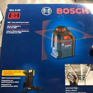 BOSCH GLL2-20 Self-Leveling 360° Cross-Line Laser Measure