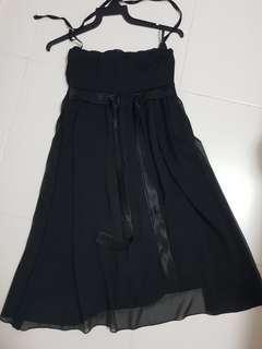 Black Chiffon Tube Dress