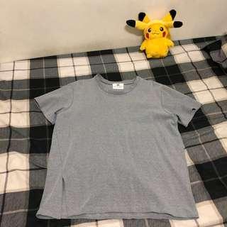 灰色 側開岔 特色款 韓版 硬挺 圓領T恤