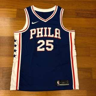 """[REDUCED] Nba Jersey """"Ben Simmons"""" Philadelphia #25 Rookie of The Year - Blue (Size 48)"""