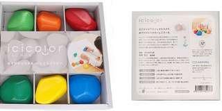 日本製🇯🇵 6色石頭狀安全蠟筆🎨