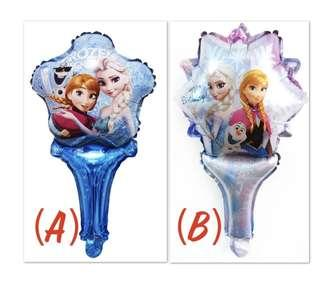 (7/1) Handheld Balloons : Frozen Princesses Elsa and Anna theme foil balloons