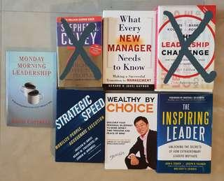 Monday Morning Leadership, Strategic Speed, The Inspiring Leader, Wealthy by Choice, What every new Managers need to know
