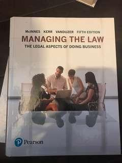 Ryerson Managing the Law (LAW 122)