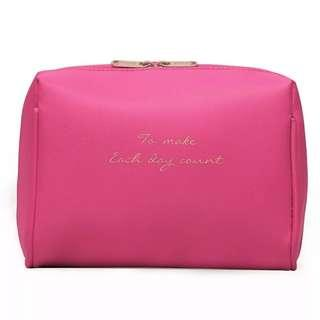 Bright Pink Box Pouch