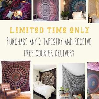 Time Sales for Mandala Tapestry