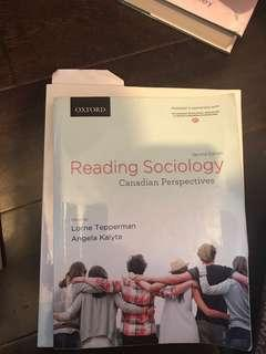 Reading Sociology - Canadian Perspective