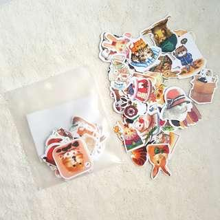 Bunny and cats Sticker flakes