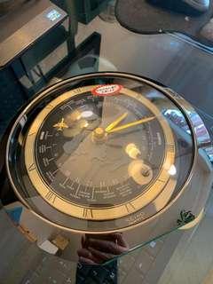 全新日本SEIKO精工金屬世界時計座鐘