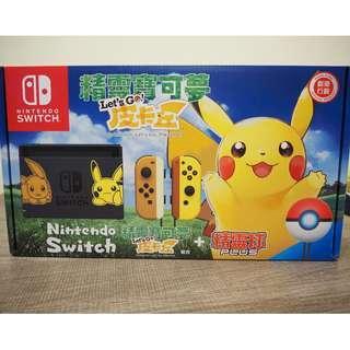 任天堂 - Switch Pokemon Let's Go 皮卡丘 特別版主機+遊戲 100% new!